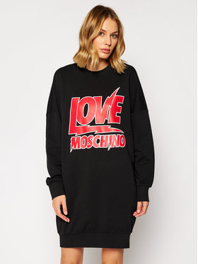 LOVE MOSCHINO LOVE MOSCHINO Плетена рокля W5A4805M 4055 Черен Regular Fit