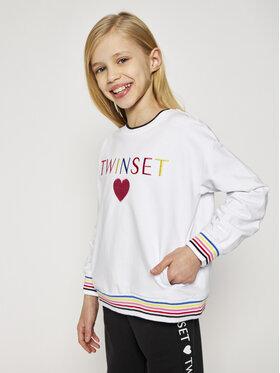 TwinSet TwinSet Sweatshirt 999GJ2011 Weiß Regular Fit