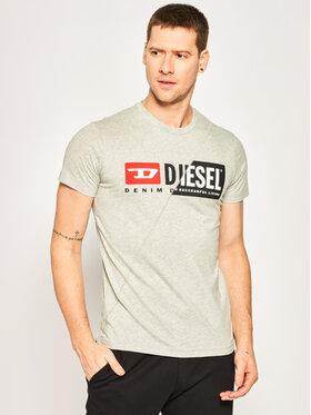 Diesel Diesel Тишърт Diego Cuty 00SDP1 0091A Сив Regular Fit