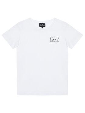 EA7 Emporio Armani EA7 Emporio Armani T-Shirt 6KBT51 BJ02Z 1100 Biały Regular Fit