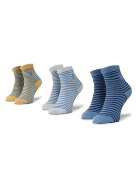 Polo Ralph Lauren Polo Ralph Lauren Σετ ψηλές κάλτσες παιδικές 3 τεμαχίων 441799248001 Μπλε