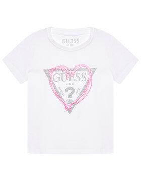 Guess Guess Tričko K1RI00 K6YW1 Biela Regular Fit