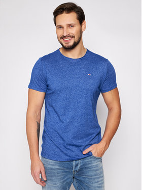 Tommy Jeans Tommy Jeans T-Shirt Jaspe DM0DM09586 Granatowy Slim Fit