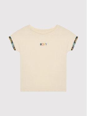 Roxy Roxy Marškinėliai Marine Bloom ERGZT03782 Smėlio Relaxed Fit