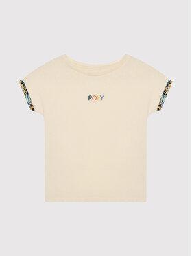 Roxy Roxy T-Shirt Marine Bloom ERGZT03782 Béžová Relaxed Fit