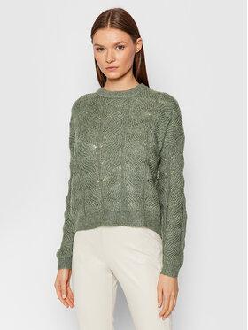 Vero Moda Vero Moda Sweter Stinna 10253212 Zielony Regular Fit