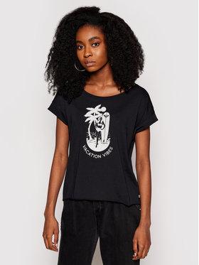 Roxy Roxy T-shirt Summer Night A ERJZT04852 Crna Loose Fit
