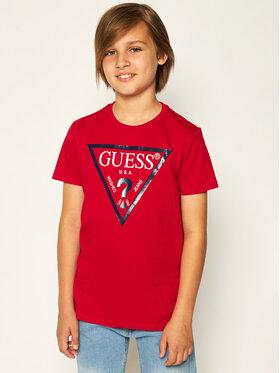 Guess Guess T-shirt L73I55 K5M20 Rouge Regular Fit