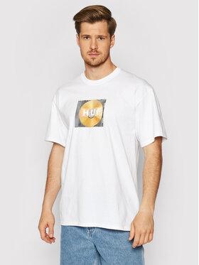HUF HUF T-Shirt Mix Box Logo TS01343 Biały Regular Fit