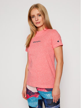 Champion Champion T-Shirt Script Logo Eco Yarn 113206 Ροζ Custom Fit