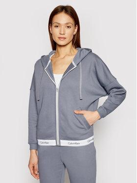 Calvin Klein Underwear Calvin Klein Underwear Mikina Full Zip 000QS6030E Šedá Oversize