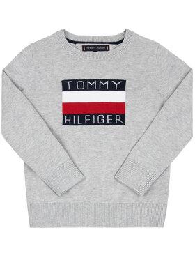 Tommy Hilfiger Tommy Hilfiger Sweter Graphic KB0KB05447 D Szary Regular Fit