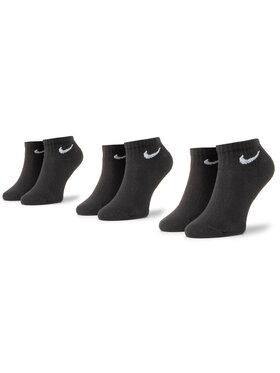 NIKE NIKE Sada 3 párů dámských vysokých ponožek SX7667-010 Černá