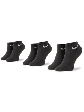 Nike Nike Σετ 3 ζευγάρια κοντές κάλτσες unisex SX7667-010 Μαύρο