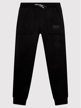 Coccodrillo Coccodrillo Παντελόνι φόρμας ZC1120112EVB Μαύρο Regular Fit