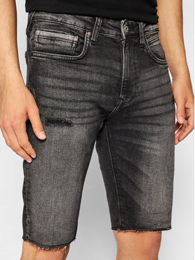 Pepe Jeans Pepe Jeans Szorty jeansowe Stanley PM800857 Szary Slim Fit