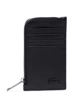 Lacoste Lacoste Etui na karty kredytowe Slim Zip Card Holder NH3458DD Czarny