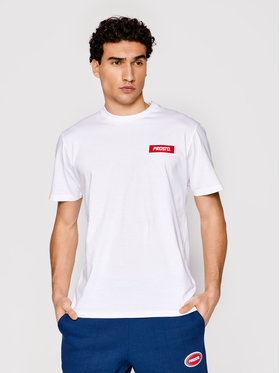 PROSTO. PROSTO. T-shirt KLASYK Ts Jackart 1126 Bianco Regular Fit