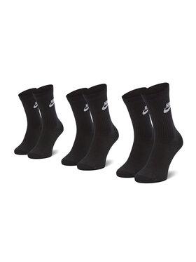 Nike Nike Σετ 3 ζευγάρια ψηλές κάλτσες unisex SK0109 010 Μαύρο