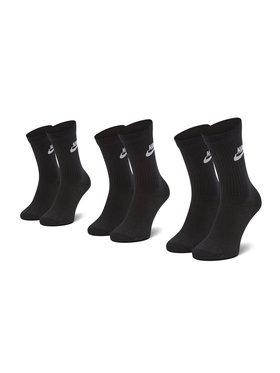 Nike Nike Unisex ilgų kojinių komplektas (3 poros) SK0109 010 Juoda