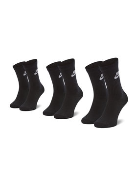 Nike Nike Zestaw 3 par wysokich skarpet unisex SK0109 010 Czarny
