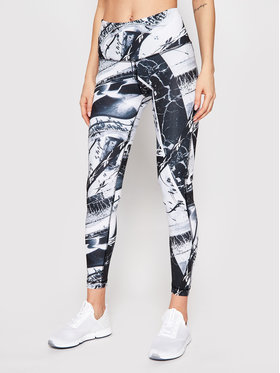 Reebok Reebok Leggings Workout Ready Printed GL2510 Fekete Slim Fit