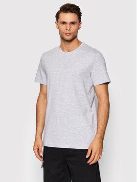 4F 4F T-Shirt NOSH4-TSM352 Szary Regular Fit