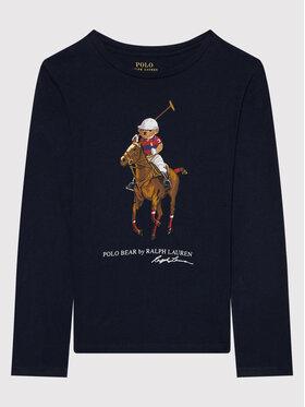 Polo Ralph Lauren Polo Ralph Lauren Блуза Bear 313854217001 Тъмносин Regular Fit