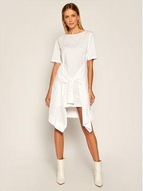 Patrizia Pepe Každodenné šaty 8A0707/A7J7-W103 Biela Regular Fit