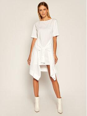 Patrizia Pepe Patrizia Pepe Každodenní šaty 8A0707/A7J7-W103 Bílá Regular Fit