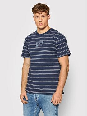 Tommy Jeans Tommy Jeans T-Shirt Tonal Logo Stripe Tee DM0DM11435 Dunkelblau Regular Fit