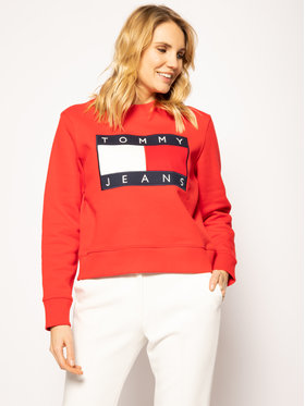 Tommy Jeans Tommy Jeans Sweatshirt Tjw Flag Crew DW0DW07414 Rot Regular Fit