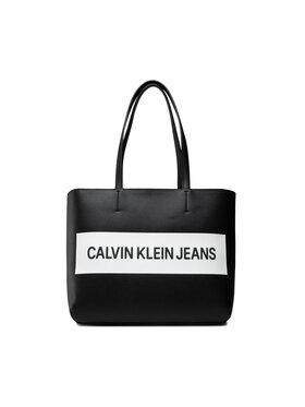 Calvin Klein Jeans Calvin Klein Jeans Rankinė Shopper K60K608563 Juoda