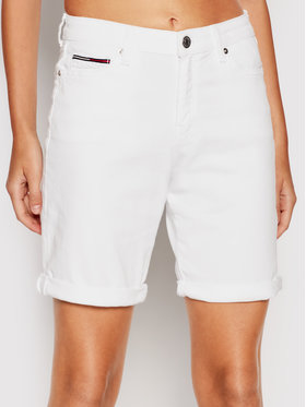 Tommy Jeans Tommy Jeans Farmer rövidnadrág Bermuda DW0DW10987 Fehér Regular Fit
