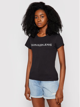 Calvin Klein Jeans Calvin Klein Jeans Tricou Institutional J20J207879 Negru Regular Fit