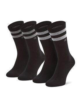 Calvin Klein Calvin Klein Lot de 2 paires de chaussettes hautes unisexe 701218711 Noir