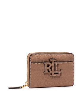 Lauren Ralph Lauren Lauren Ralph Lauren Portefeuille femme petit format Logo Zip Wlt 432836654008 Marron