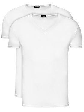 Dsquared2 Underwear Dsquared2 Underwear 2 marškinėlių komplektas DCX450030 Balta Slim Fit
