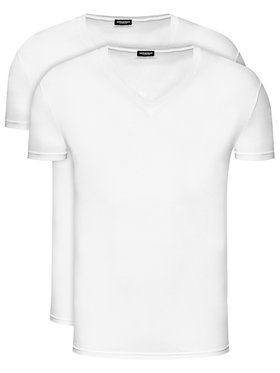 Dsquared2 Underwear Dsquared2 Underwear Σετ 2 T-Shirts DCX450030 Λευκό Slim Fit