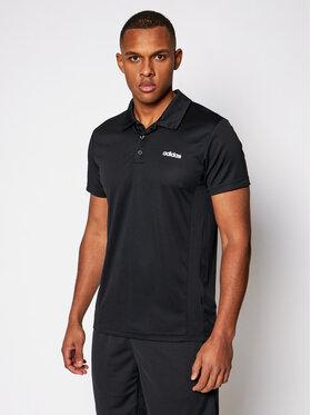adidas adidas Тениска с яка и копчета Design 2 Move FL0330 Черен Regular Fit