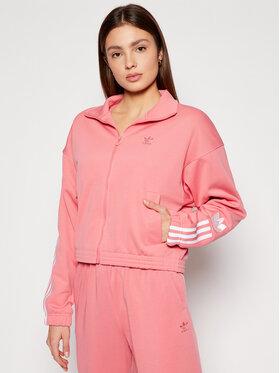 adidas adidas Sweatshirt adicolor 3D Trefoil Track GN6707 Rose Regular Fit