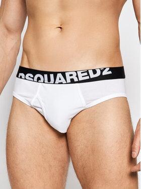 Dsquared2 Underwear Dsquared2 Underwear Komplet 2 par slipów DCX670030 Biały