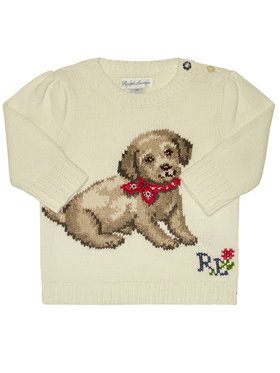 Polo Ralph Lauren Polo Ralph Lauren Megztinis Dog 310787279001 Balta Regular Fit