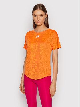 Nike Nike Тениска от техническо трико Air CZ9154 Оранжев Standard Fit