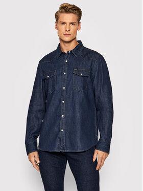 Guess Guess džínsová košeľa Camicia M1BH12 R4DL1 Tmavomodrá Regular Fit