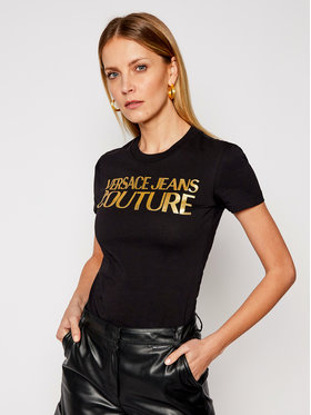 Versace Jeans Couture Versace Jeans Couture T-Shirt B2HWA7TB Schwarz Slim Fit
