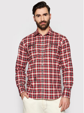 Rage Age Rage Age Camicia Heroes 2 Rosso Slim Fit