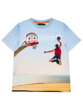Desigual Desigual T-Shirt Dante 21SBTK02 Niebieski Regular Fit