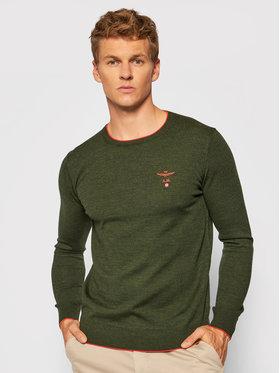 Aeronautica Militare Aeronautica Militare Sweter 212MA1344L415 Zielony Regular Fit