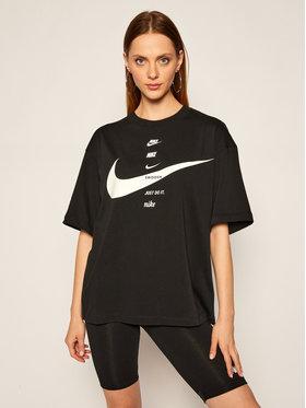 NIKE NIKE Тишърт Sportswear CU5682 Черен Oversize